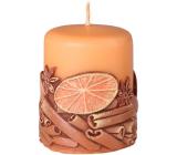 Emocio Skořice Cinnamon vonná svíčka válec 50 x 60 mm