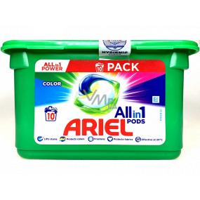 Ariel All-in-1 Pods Color gelové kapsle na barevné prádlo 10 kusů 238 g
