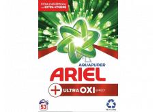 Ariel Aquapuder Ultra Oxi Effect prací prášek na bílé, barevné a černé prádlo 53 dávek 3,975 kg