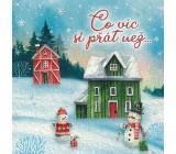Nekupto Přání vánoční Sněhuláci Co víc si přát než... 100 x 100 mm