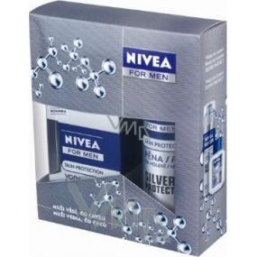 Nivea Kazsilverpro pěna na holení 200 ml + voda po holení 100 ml,pro muže kosmetická sada