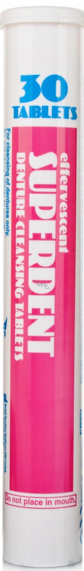 Superdent Denture Cleansing Tablets tablety na čištění umělého chrupu 30 kusů