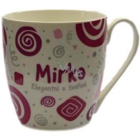 Nekupto Twister hrnek se jménem Mirka růžový 0,4 litru