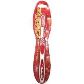 Nekupto Zubíci měkký zubní kartáček s nápisem Jsi originál červený 1 kus