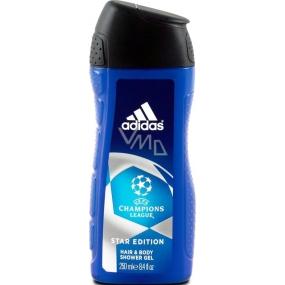 Adidas UEFA Champions League Star Edition 2v1 sprchový gel a šampon pro muže 250 ml