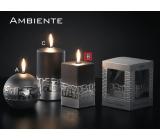 Lima Ambiente svíčka černá hranol 65 x 120 mm 1 kus