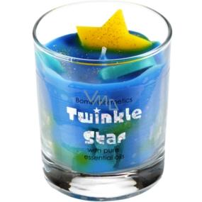 Bomb Cosmetics Jasná hvězda - Twinkle Star Candle Vonná přírodní, ručně vyrobena svíčka ve skle hoří až 35 hodin