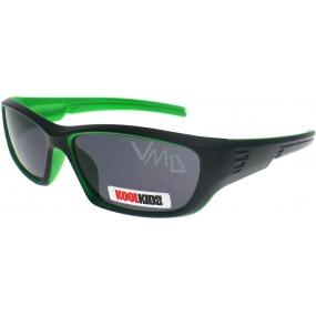 Dudes & Dudettes JK438 černo-zelené sluneční brýle pro děti