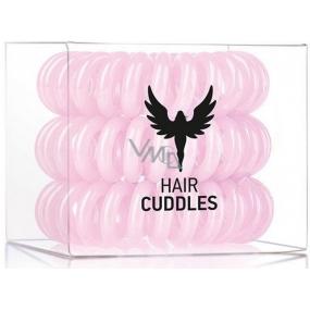 HH Simonsen Hair Cuddles Light Pink gumičky do vlasů světle růžové 3 kusy
