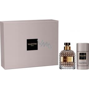 Valentino Uomo toaletní voda pro muže 50 ml + Valentino Uomo deodorant stick 75 ml, dárková sada