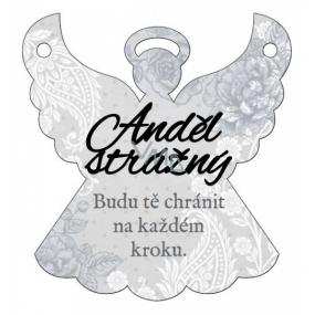 Albi Závěsná plaketka andílek Anděl strážný 9 x 10 cm