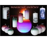 Lima Magická zelená svíčka válec 60 x 120 mm 1 kus