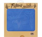 Albi Fitness ručník Zadělávám na buchty modrý 90 x 50 cm