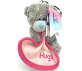 Me to You Klíčenka plyšová Medvídek s dekou a nápisem Hugs 8 cm