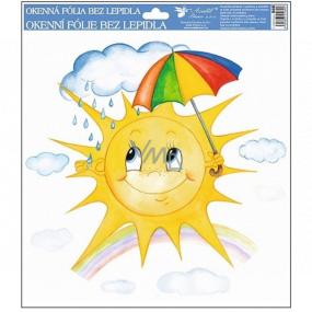 Okenní fólie ručně malovaná sluníčka, deštník 30 x 30 cm