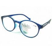 Berkeley Čtecí dioptrické brýle +4,0 plast modročerné, kulaté skla 1 kus MC2182