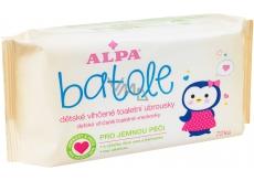 Alpa Batole vlhčené toaletní ubrousky s aloe vera pro děti 72 kusů