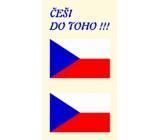 Arch Tetovací obtisky na obličej i tělo Česká vlajka 3 motiv