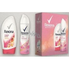 Rexona FW Sexy Tropical Power sprchový gel 250 ml + Sexy Bouquet deodorant sprej pro ženy 150 ml, kosmetická sada