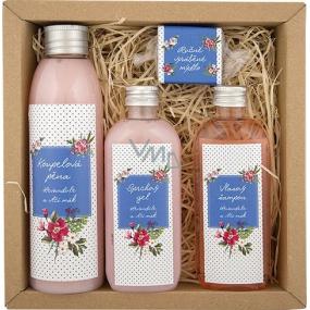 Bohemia Spa Meadow koupelová pěna 200 ml + sprchový gel 100 ml + vlasový šampon 100 ml + ručně vyráběné mýdlo 30 g, kosmetická sada