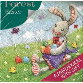 Forest Velikonoční papírové ubrousky Zajíček a vajíčka 1 vrstvé 33 x 33 cm 20 kusů