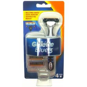 Gillette Blue 3 holicí strojek 1 kus + náhradní hlavice 3 kusy