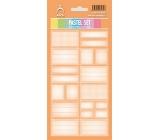 Arch Samolepky do domácnosti Pastelový set oranžový 12 etiket