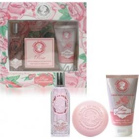 Jeanne en Provence Rose Envoutante parfémovaná voda pro ženy 60 ml + tuhé toaletní mýdlo 100 g + krém na ruce 75 ml, dárková sada