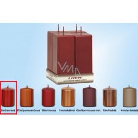 Lima Svíčka hladká metal červená hranol 45 x 120 mm 4 kusy