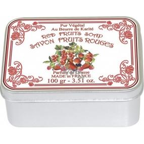 Le Blanc Fruits Rouges přírodní mýdlo tuhé v krabičce 100 g