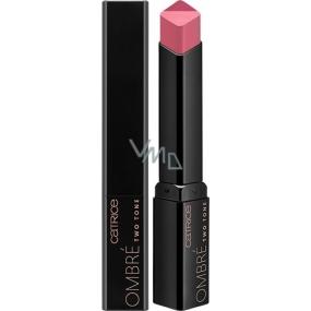 Catrice Ombré Two Tone Lipstick rtěnka 010 Rockabily Rosewood 2,5 g