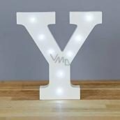 Nekupto Dřevěné LED písmeno Y dekorace 16 cm NLE 025