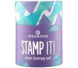 Essence Stamp It! sada se zdobícím razítkem Clear Stampy