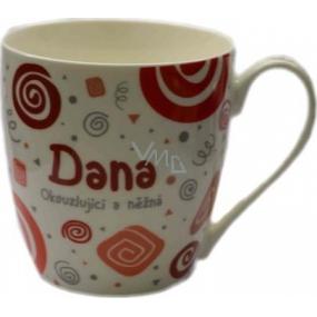 Nekupto Twister hrnek se jménem Dana červený 0,4 litru