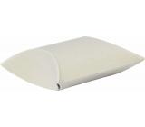 Dárková krabička čočka, pukačka bílá 18 x 11 cm 1 kus