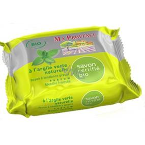 Ma Provence Bio Čerstvá máta Pravé Marseille toaletní mýdlo 75 g
