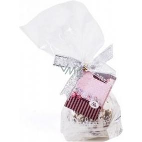 Albi Relax Pěnová koule bomba s vůní Růže Novomanželům 40 g