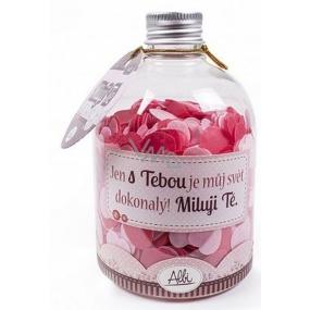 Albi Relax Konfety do koupele s vůní Růže Miluji Tě