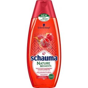 Schauma Nature Moments Štavnatá malina a slunečnicový olej pro ochranu barvy a lesk šampon na vlasy 400 ml