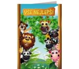 Nekupto Hrací přání k narozeninám Jiří Suchý Máme rádi zvířata