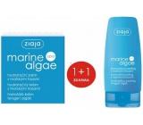 Ziaja Marine Algae Spa mořské řasy hydratační krém 50 ml + Ziaja Marine Algae Spa mořské řasy enzymatický peeling 60 ml, duopack