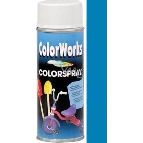 Color Works Colorsprej 918509C středně modrý alkydový lak 400 ml