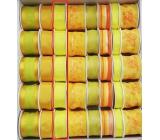 Ditipo Stuha látková s drátkem žlutá neon 3 m x 25 mm