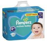 Pampers Giant Pack Active Baby Maxi 4+ 10 - 15 kg jednorázové plenky 70 kusů