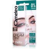 Delia Cameleo Progreen krémová profesionální barva na obočí, bez amoniaku 3.0 Dark Brown - tmavě hnědá 15 ml