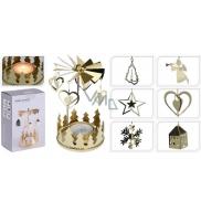 Andělské zvonění na čajovou svíčku zlaté 65 x 160 mm