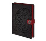 Epee Merch Hra o Trůny Game of Thrones - Targaryen Blok A5 21 x 15 cm premium linkovaný