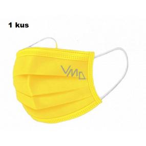 Shield Rouška 3 vrstvá ochranná zdravotní netkaná jednorázová, nízký dýchací odpor 1 kus žlutá