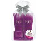 Fenjal Miss Touch of Purple sprchový krém 200 ml + tělové mléko 200 ml + šátek, kosmetická sada