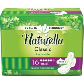 Naturella Classic Maxi hygienické vložky s vůní heřmánku a křidélky 16 kusů